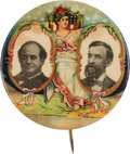 Political:Pinback Buttons (1896-present), Bryan & Kern: Colorful Enthroned Liberty Jugate....