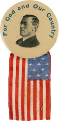 Political:Pinback Buttons (1896-present), Woodrow Wilson: Patriotic Slogan Picture Pin....