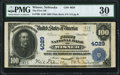 National Bank Notes:Nebraska, Wisner, NE - $100 1902 Plain Back Fr. 700 The First NB Ch. # 4029 PMG Very Fine 30.. ...