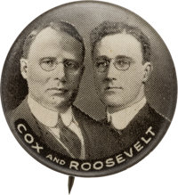 Cox & Roosevelt: An Almost Certainly Unique Black and White Variant of the Customarily Brown Whitehead and Hoag...