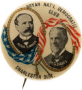 "Political:Pinback Buttons (1896-present), Parker & Davis: Rare Overprinted 1 1/4"" Jugate from Charleston...."