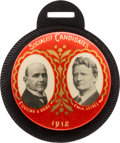 "Political:Ribbons & Badges, Debs & Seidel: Awesome 1 1/2"" 1912 Celluloid Jugate in Pristine Condition...."