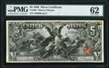 Large Size:Silver Certificates, Fr. 268 $5 1896 Silver Certificate PMG Uncirculated 62.. ...