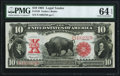 Large Size:Legal Tender Notes, Fr. 120 $10 1901 Legal Tender PMG Choice Uncirculated 64 EPQ.. ...