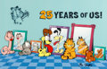 "Animation Art:Limited Edition Cel, ""25 Years of Us!"" Garfield Limited Edition Cel #12/25 with Jim Davis Remarque (PAWS, 2003)...."
