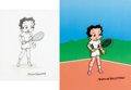 Animation Art:Limited Edition Cel, Betty Boop by Myron Waldman 1 of 1 Limited Edition Cel and OriginalDrawing (King Features Syndicate, c. 1990s)....