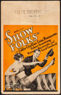 "Movie Posters:Comedy, Show Folks (Pathé, 1928). Fine+. Window Card (14"" X 22""). Comedy. From the Collection of Frank Buxton, of which the sale's..."