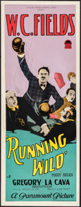 "Movie Posters:Comedy, Running Wild (Paramount, 1927). Very Good/Fine on Paper. Insert(14"" X 36""). Comedy. From the Collection of Frank Buxton,..."