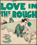 "Movie Posters:Comedy, Love in the Rough (MGM, 1930). Fine+. Trimmed Window Card (14"" X17""). Comedy. From the Collection of Frank Buxton, of whi..."