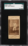 Baseball Cards:Singles (Pre-1930), 1888 N338-1 S. F. Hess California League Buck Ebright SGC 10 Poor 1 - The Only Graded Example! ...