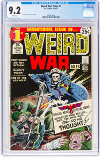Weird War Tales #1 (DC, 1971) CGC NM- 9.2 White pages