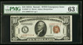 Small Size:World War II Emergency Notes, Fr. 2303* $10 1934A Hawaii Federal Reserve Note. PMG Choice Uncirculated 63 EPQ.. ...