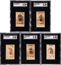 Baseball Cards:Lots, 1887-90 N172 Old Judge Mark Baldwin SGC-Graded Collection (5Different). ...