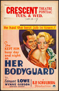 "Movie Posters:Comedy, Her Bodyguard (Paramount, 1933). Fine+. Window Card (14"" X 22"").Comedy.. ..."