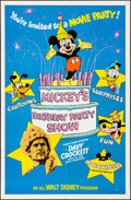 "Movie Posters:Animation, Mickey's Birthday Party Show (Buena Vista, 1978). Folded, Very Fine-. One Sheet (27"" X 41""). Animation.. ..."