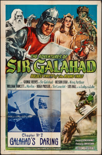 "The Adventures of Sir Galahad (Columbia, 1949). Folded, Fine. One Sheet (27"" X 41"") Chapter 2 -- ""Galahad..."