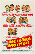 "Movie Posters:Comedy, We're Not Married (20th Century Fox, 1952). Fine/Very Fine onLinen. One Sheet (27"" X 41""). Comedy.. ..."