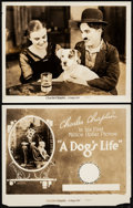 """Movie Posters:Comedy, A Dog's Life (Pathe, R-1920s). Fine. Photos (2) (8"""" X 10""""). Comedy.. ... (Total: 2 Items)"""