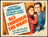 """All Through the Night (Warner Brothers, 1942). Fine+. Title Lobby Card (11"""" X 14""""). Film Noir"""