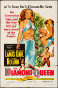"Movie Posters:Adventure, The Diamond Queen (Warner Brothers, 1953). Folded, Fine+. One Sheet (27"" X 41""). Adventure.. ..."