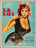 """Movie Posters:Foreign, La Loi (Les Films Corona, 1959). Folded, Fine/Very Fine. French Moyenne (23.6"""" X 31.5"""") Yves Thos Artwork. Foreign.. ..."""