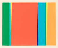 Jay Rosenblum (1933-1989) Cycle 3, 1979 Serigraph in colors on paper 23-1/2 x 28-3/8 inches (59.7