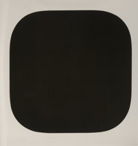 Ellsworth Kelly (1923-2015) Black Variation 4, 1975 Screenprint on Rives paper 45-3/4 x 45 inches