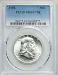 Franklin Half Dollars, 1956 50C MS65 Full Bell Lines PCGS. PCGS Population: (1831/879). NGC Census: (669/196). CDN: $75 Whsle. Bid for problem-fre...