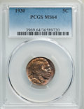 Buffalo Nickels: , 1930 5C MS64 PCGS. PCGS Population: (1049/1720). NGC Census: (627/546). CDN: $75 Whsle. Bid for problem-free NGC/PCGS MS64....