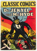 Golden Age (1938-1955):Classics Illustrated, Classic Comics #13 Dr. Jekyll and Mr. Hyde - First Edition (Gilberton, 1943) Condition: VG....