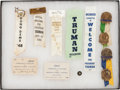 Political:Ribbons & Badges, Harry S Truman: 1948 Whistle-Stop Ribbons, Cards and More....