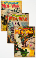 Golden Age (1938-1955):War, All-American Men of War Group of 4 (DC, 1954-57) Condition: Average GD/VG.... (Total: 4 )