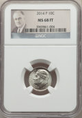 Roosevelt Dimes, 2014-P 10C MS68 Full Bands NGC. PCGS Population: (8/0)....