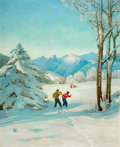 Paintings, John Ford Clymer (American, 1907-1989). When Couples Meet, Ballantine Beer advertisement, 1953. Oil on board. 25-1/4 x 2...