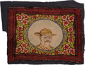 Political:Textile Display (1896-present), Theodore Roosevelt: Colorful Rough Rider Lap Robe....