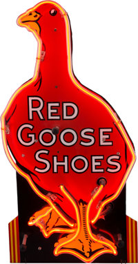 Vintage Advertising: Red Goose Shoes Neon Sign