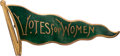 Political:Pinback Buttons (1896-present), Woman's Suffrage: Billowing Pennant Enamel Brooch.. ...