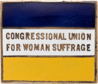 Woman's Suffrage: Rare Enamel Brooch