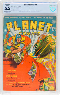 Planet Comics #4 (Fiction House, 1940) CBCS Conserved FN- 5.5 Cream to off-white pages