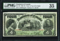 Canadian Currency, DC-17b $4 2.1.1902 PMG Choice Very Fine 35.. ...