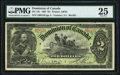 Canadian Currency, DC-14c $2 2.7.1897 PMG Very Fine 25.. ...