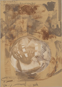 Robert Rauschenberg (1925-2008) Sack, from Stoned Moon Series, 1969 Lithograph in colors