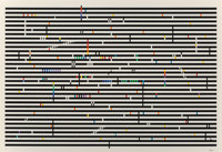 Yaacov Agam (b. 1928) Double Metamorphosis IV, c. 1979 Screenprint in colors on Arches paper 30 x