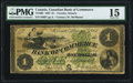 Canadian Currency, Toronto, ON- Canadian Bank of Commerce $1 1.5.1867 Ch.# 75-10-02 PMG Choice Fine 15.. ...