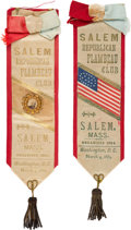 Political:Inaugural (1789-present), Benjamin Harrison: Pair of Inauguration Ribbon Badges.... (Total: 2 Items)
