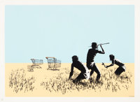 Banksy (b. 1974) Trolleys, 2007 Screenprint in colors on Arches paper 19-3/8 x 27-1/8 inches (49