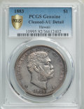 Coins of Hawaii , 1883 $1 Hawaii Dollar -- Cleaning -- PCGS Genuine Gold Shield. AUDetails. NGC Census: (38/209 and 0/3+). PCGS Population: ...