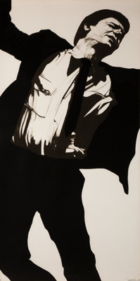 Robert Longo (b. 1953) Larry, from Men in Cities, 1983 Lithograph on rag paper 72 x 36