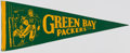 Football Collectibles:Others, c. 1940s Green Bay Packers Pennant. ...