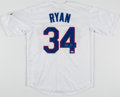 """Autographs:Jerseys, Nolan Ryan Signed """"Cooperstown Collection"""" Texas Rangers Jersey...."""